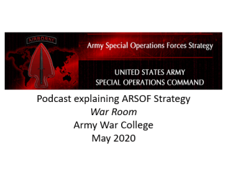 Podcast explaining ARSOF strategy