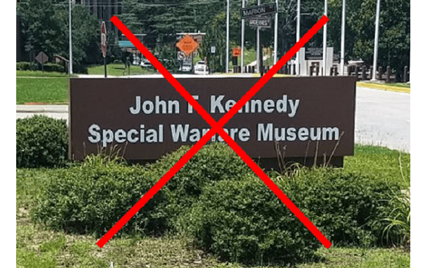 The Special Warfare Museum at Fort Bragg has closed.