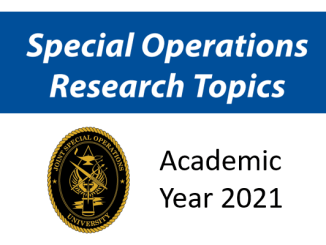 JSOU Special Operations Research Topics 2021