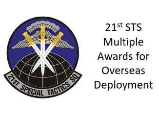 Members of the 21st Special Tactics Squadron receive awards.