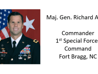Maj Gen Richard Angle 1st Special Forces Command