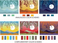 Color Theory_Landscapes_Analogous & Complimentary color schemes