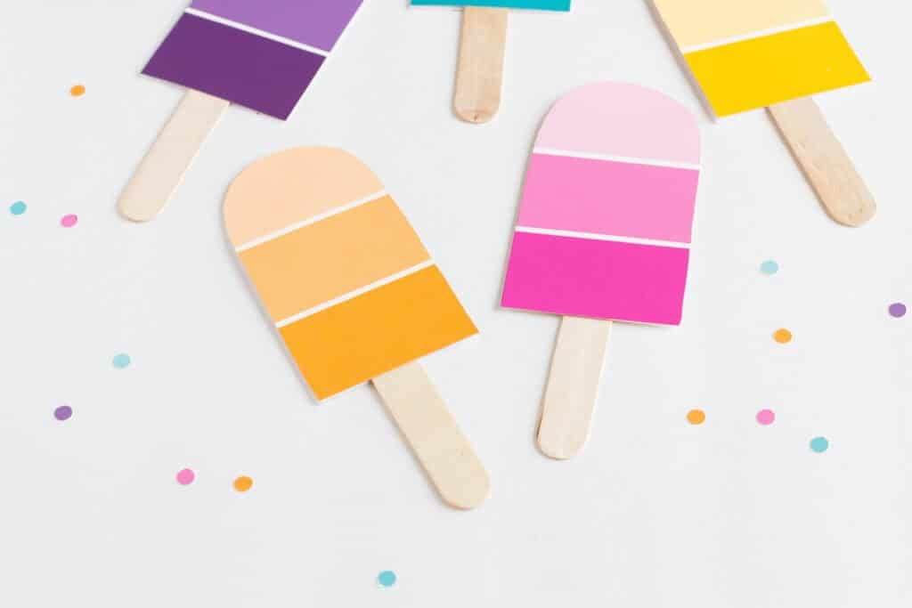 popsicle craft diy party invitations