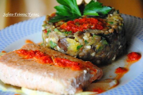 Αρωματικό φιλέτο σολομού με  σαλάτα από φακές αλά Sofeto!