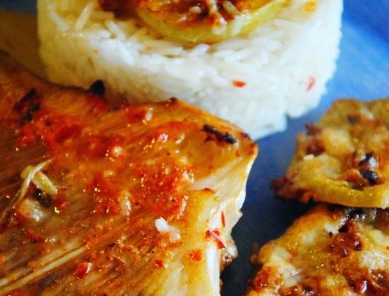 Σαλάχι στον φούρνο με πράσινες ψητές ντομάτες!