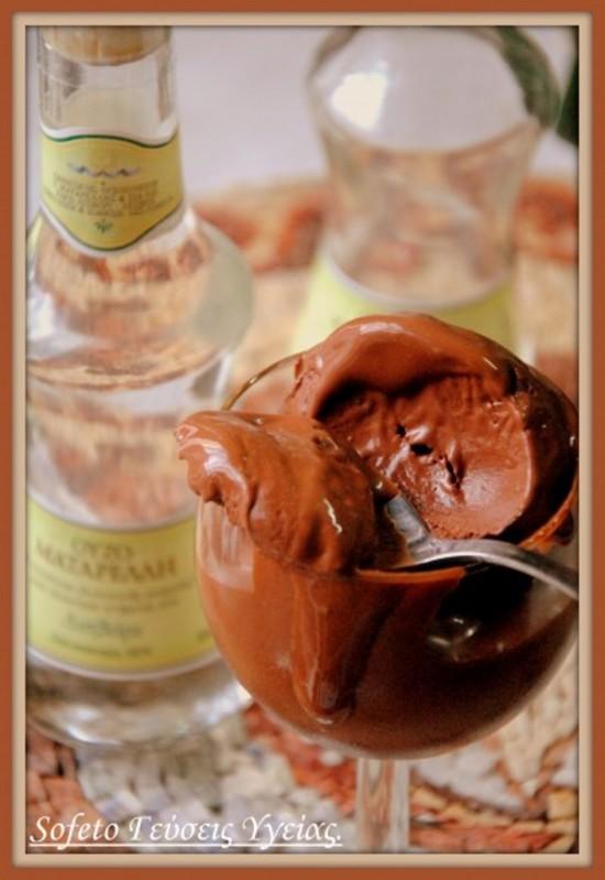 παγωτό σοκολάτα με ούζο 1
