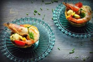 Τραγανά μπολάκια «κεχροκουκάκια» από κουκιά και κεχρί, γεμισμένα με λαχανικά και γαρίδες, χωρίς γλουτένη!