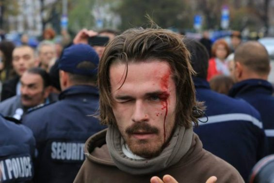 In November, the issue of police strongarm tactics again was at the fore when police clashed with protesting students. Photo: protestnamreja