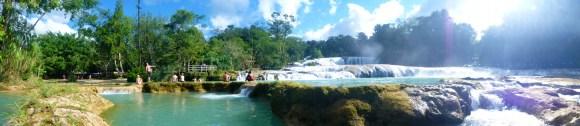 Panorama over Agua azul