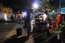 Having some street food by the main plaza