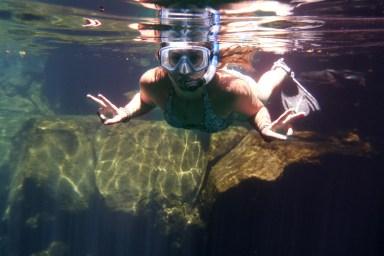 Snorkeling in las grietas