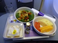 "Of course it was a mixup with the vegetarian food on the airplane, so there wasn't anything in my name.. like usually.. but the flight attendant said she would fix me something else, ""maybe some salad ot fruit""... and I get this!! It was delicious. Thank you LAN, I really appreciate it, finally someone who is actually helpful and does something about it!"