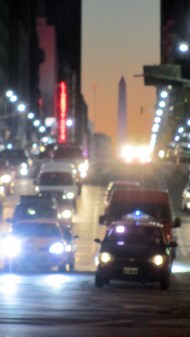 A little blurry, but I like the colours and the light. You see the obelisco monument in the back!