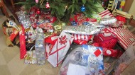 All our gifts!! No crisis here haha...