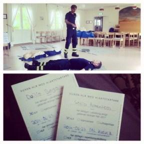 A course with Räddningstjänsten, now certified in cardiopulmonary resuscitation :)