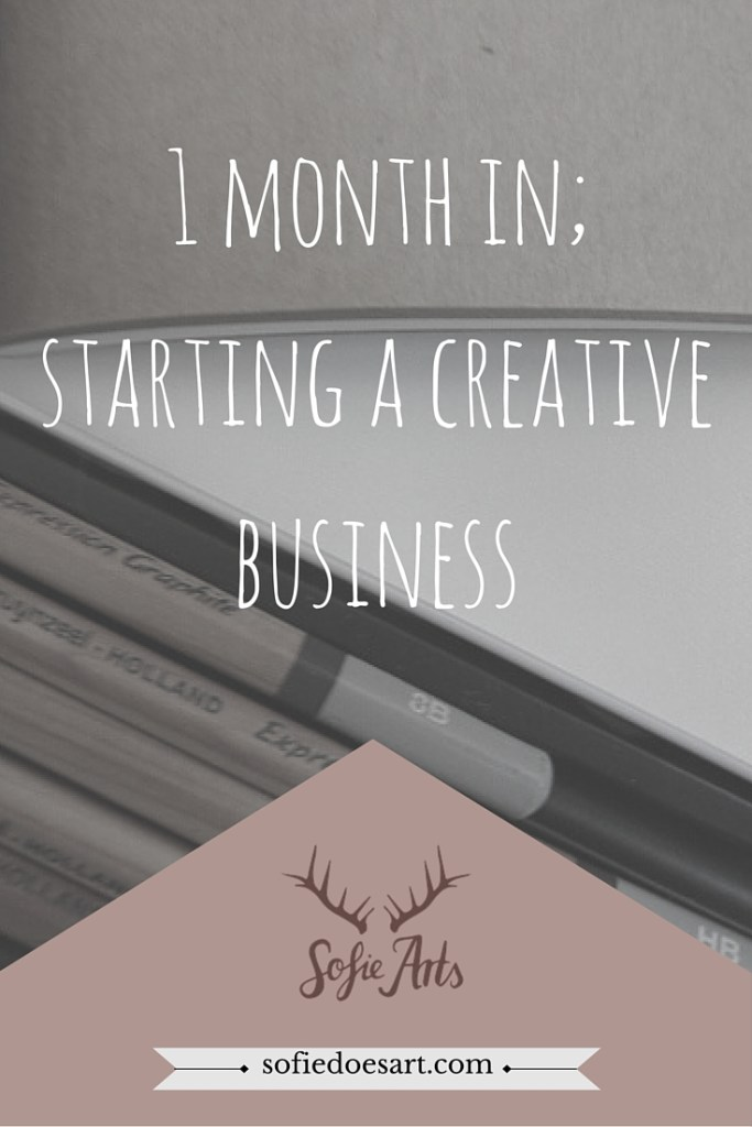 1 month in; starting a creative business. Goals and accomplishments.