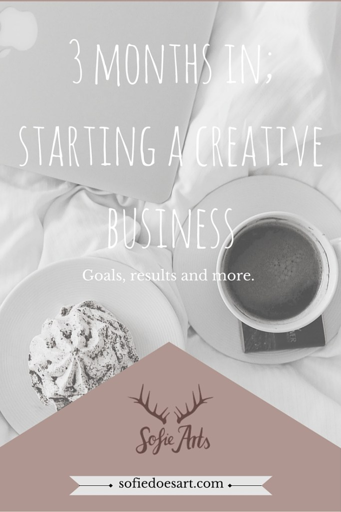 3 months in starting a creative business. Everything I learned from 3 months of business plus plans for the next month!