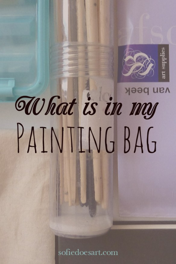 What is in my painting bag. What i would take to go painting, oil and acrylics. All my materials for a beginners set.