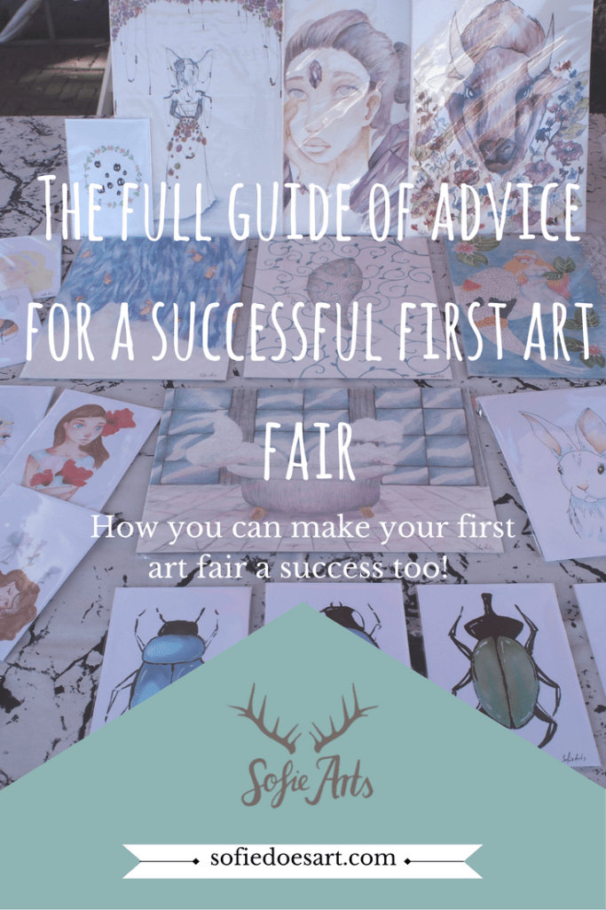 How can you make your first art fair a success. I learned loads on my first run and am excited to share with you everything I learned!