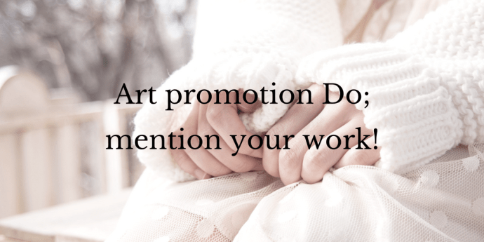Do mention your work