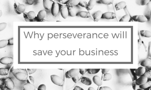 Why perseverance will save your business
