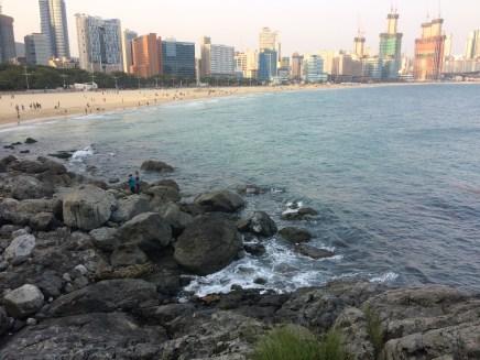 The beautiful Haeundae beach