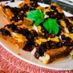 Heidelbeer-Quark Kuchen aus Haferflocken