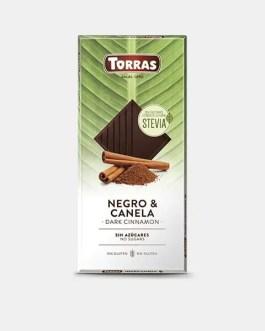 Stevia Schokolade 125g – Dark Schokolade mit Zimt – Torras
