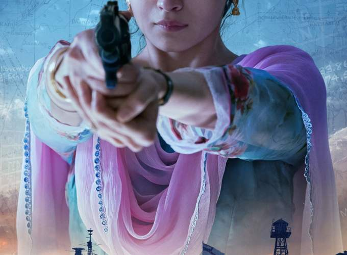 "Poster for the movie ""Raazi"""