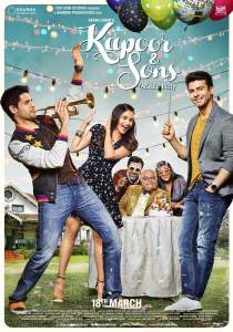 """Poster for the movie """"Kapoor & Sons"""""""
