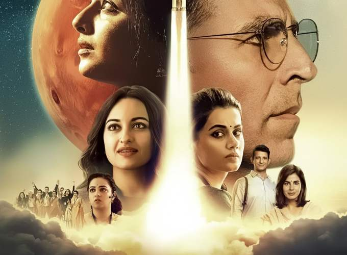 "Poster for the movie ""Mission Mangal"""