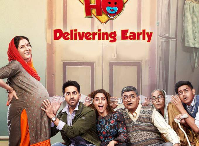 "Poster for the movie ""Badhaai Ho"""