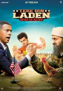 "Poster for the movie ""Tere Bin Laden Dead or Alive"""
