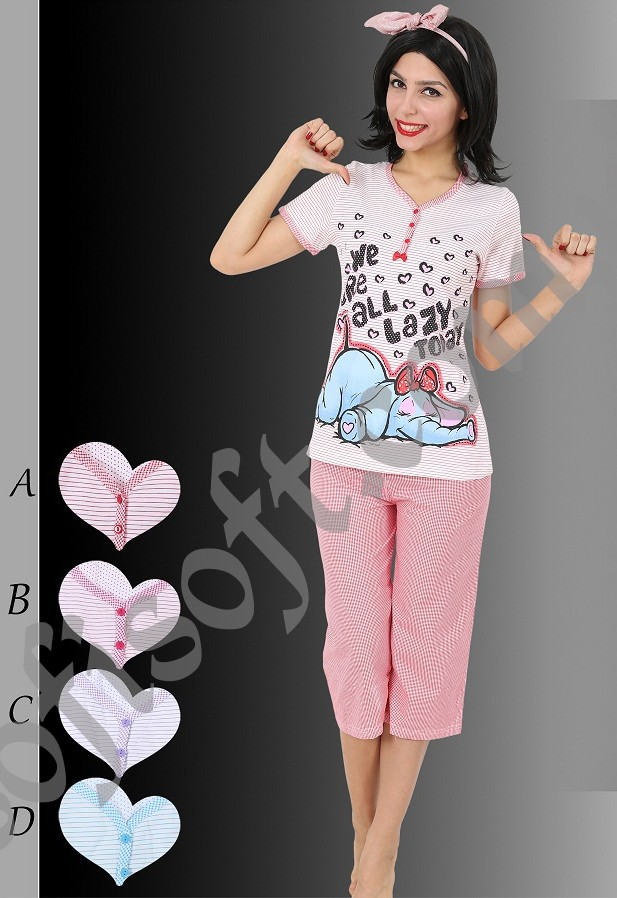 Пижама женская Капри 8680646001405