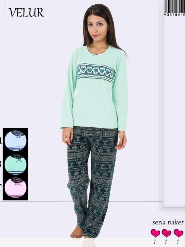 Пижама женская Велюр 4032994508