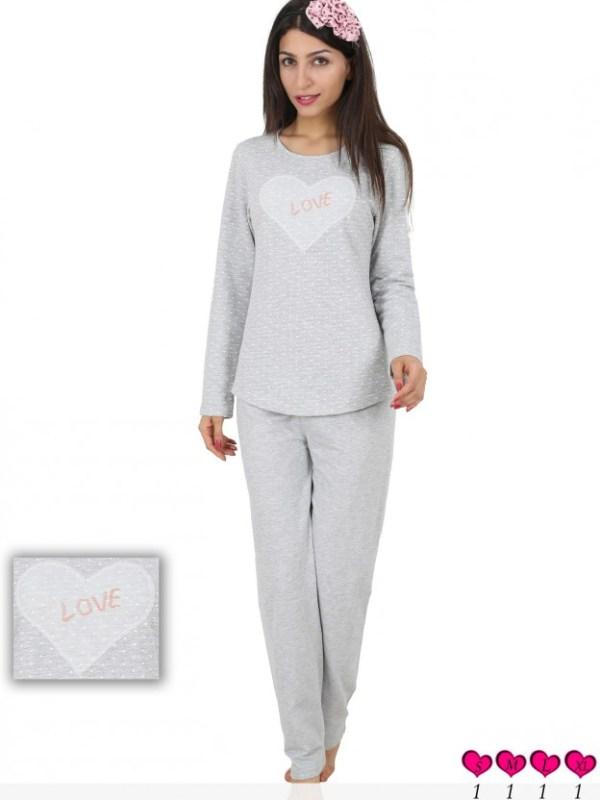 Пижама женская брюки рибана 4080984384