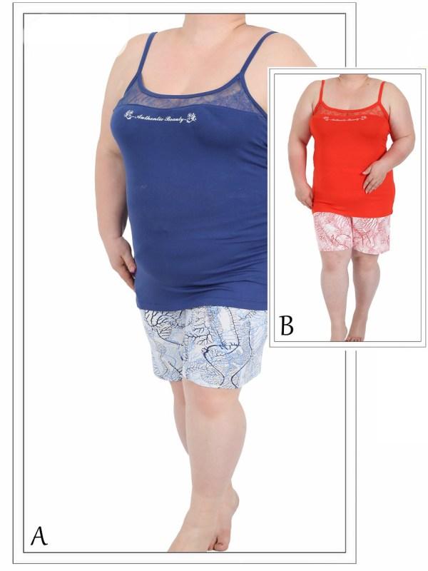 Пижама женская шорты 4120044932