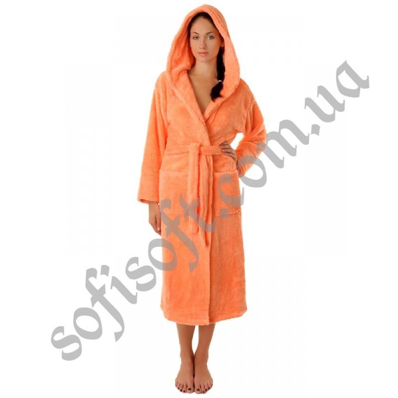 Махровый халат Sofi Soft 00815-1 персик