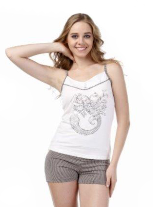 Пижама женская шорты Metin 8334