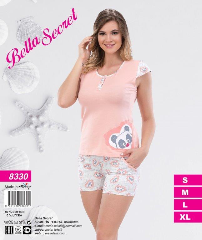 Пижама женская Шорты Metin 8330