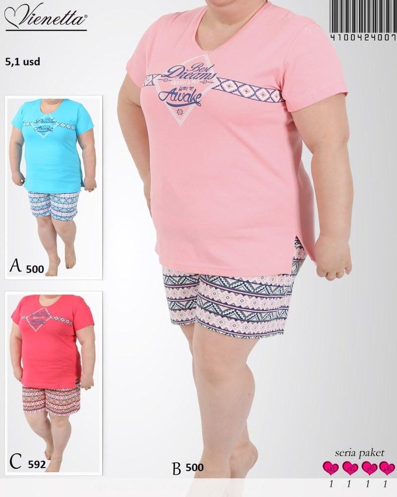 Пижама женская шорты 4100424007