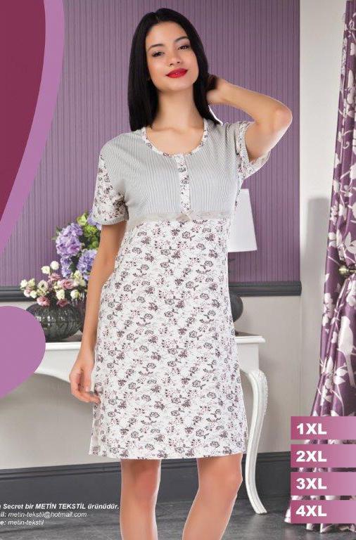 Ночная рубашка Metin 6941