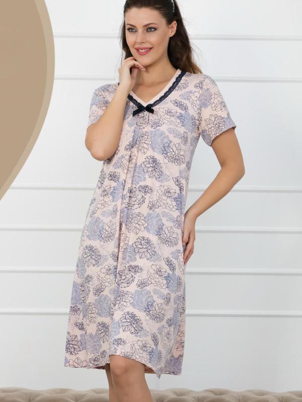 Ночная рубашка короткий рукав Caroline 86409