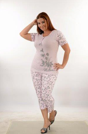 Пижама женская капри Metin 9425