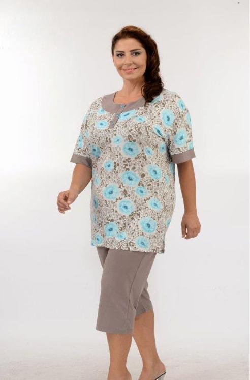 Пижама женская капри Metin 9885