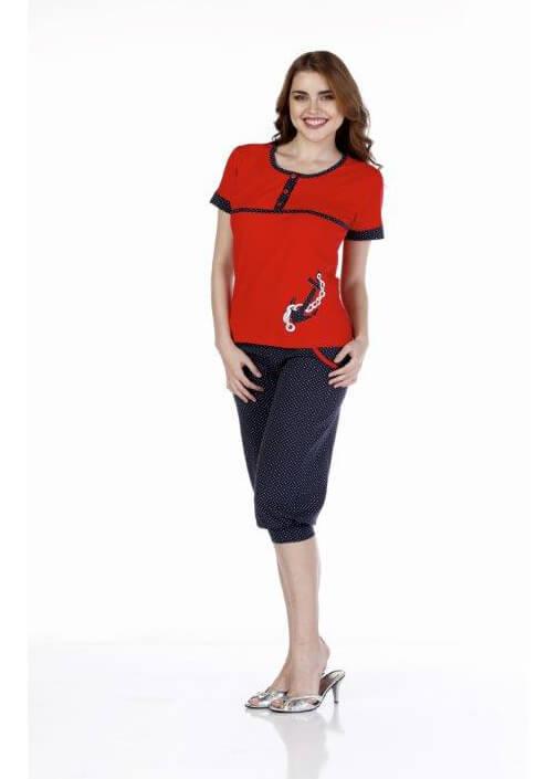 Пижама женская капри Metin 9236