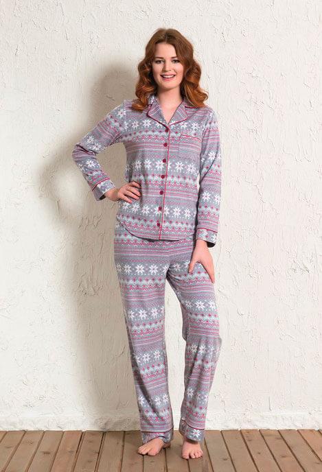 Пижама женская флис 1601303316