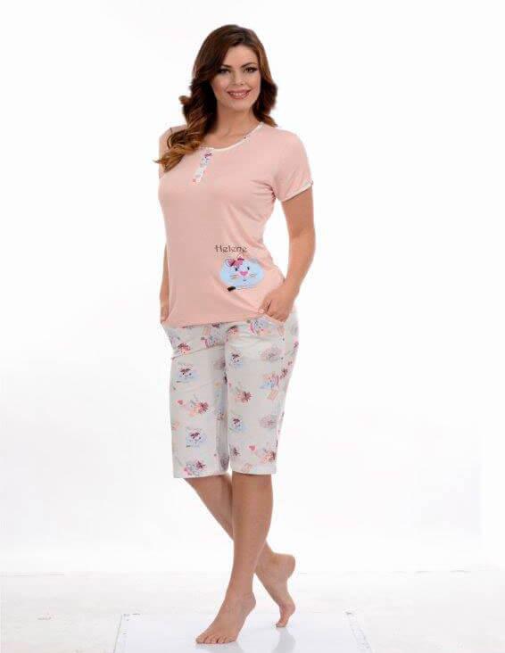 Пижама женская капри Metin 9056
