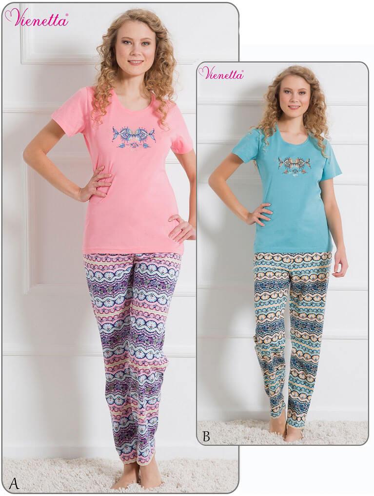Пижама женская брюки футболка 6101996205