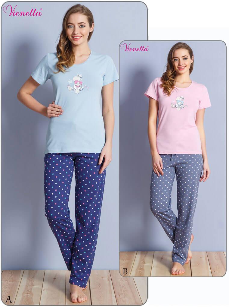 Пижама женская брюки футболка 6103064451